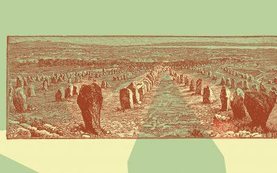 Alineación de menhires de Carnac, Bretaña, VII milenio a.C.